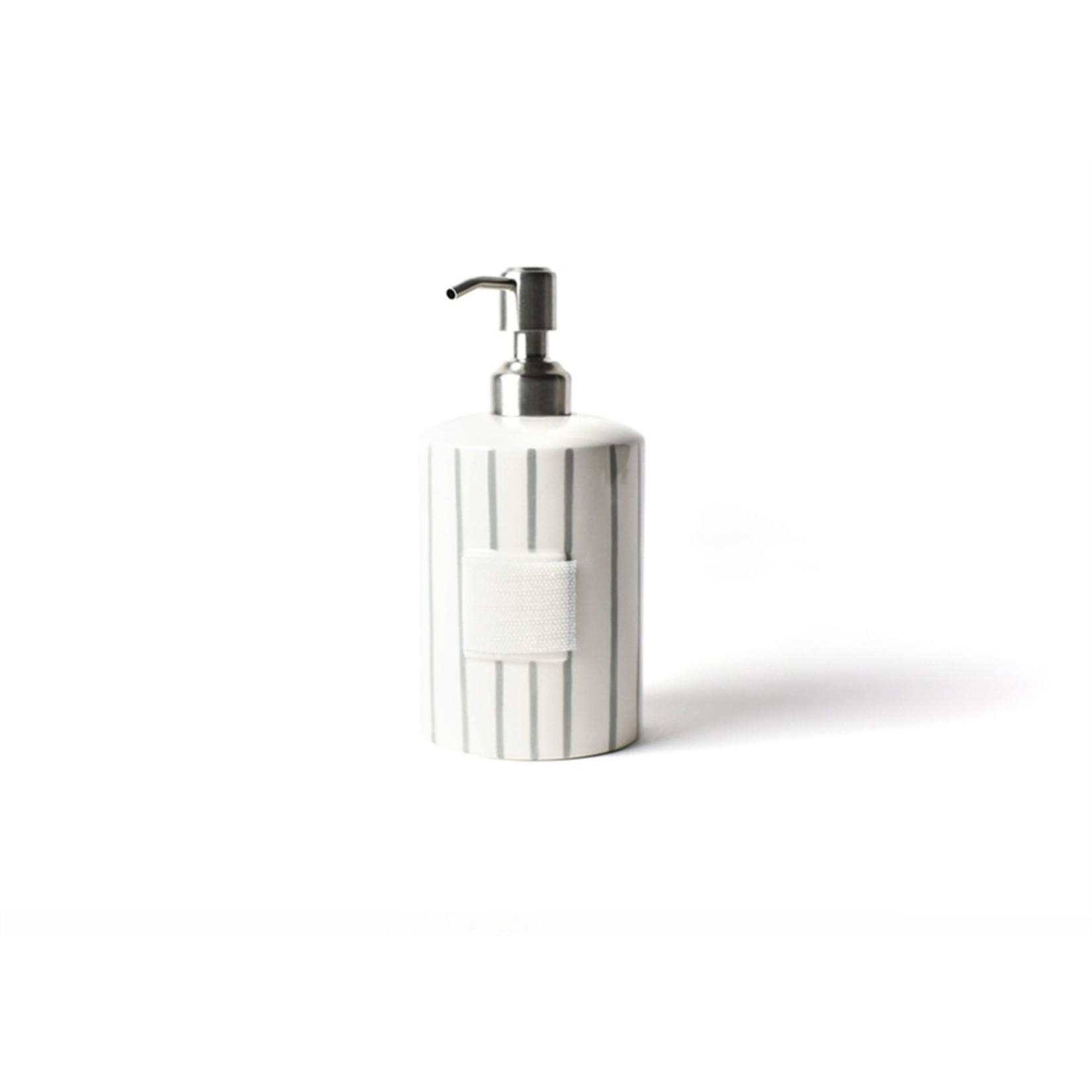 Happy Everything Stone Skinny Stripe Mini Cylinder Soap Pump