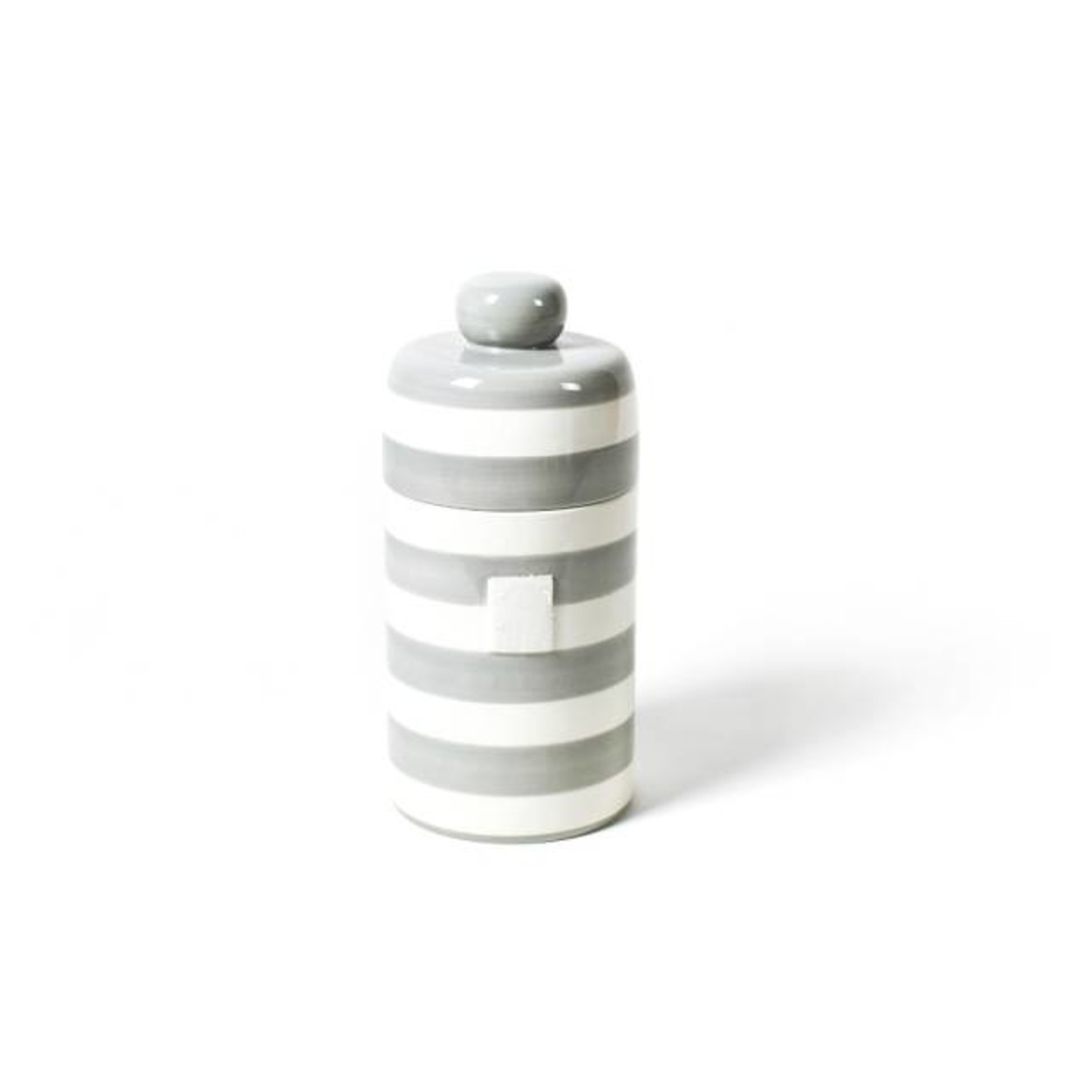 Happy Everything STONE STRIPE HAPPY EVERYTHING MINI CANISTER