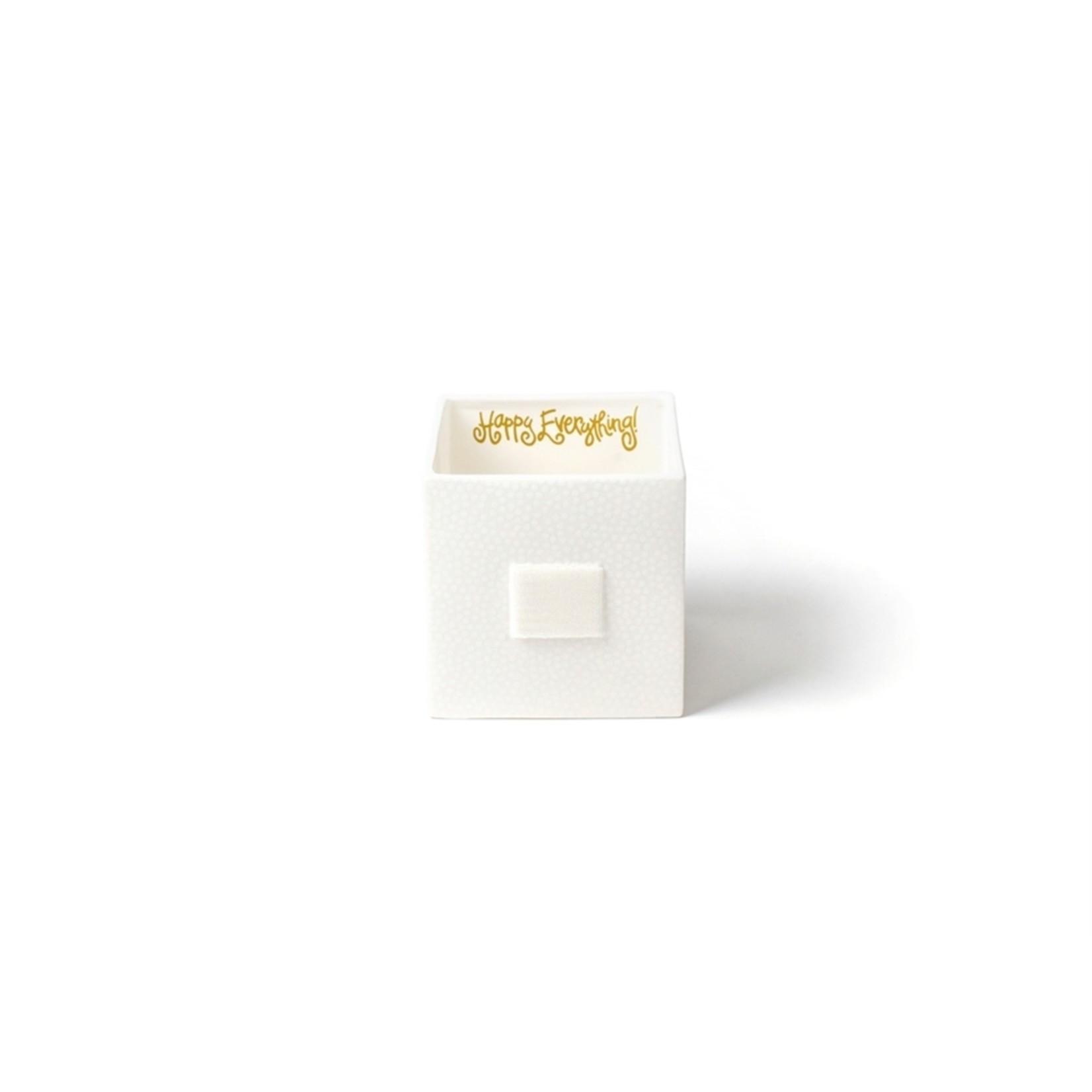 Happy Everything White Small Dot Mini Nesting Cube Medium