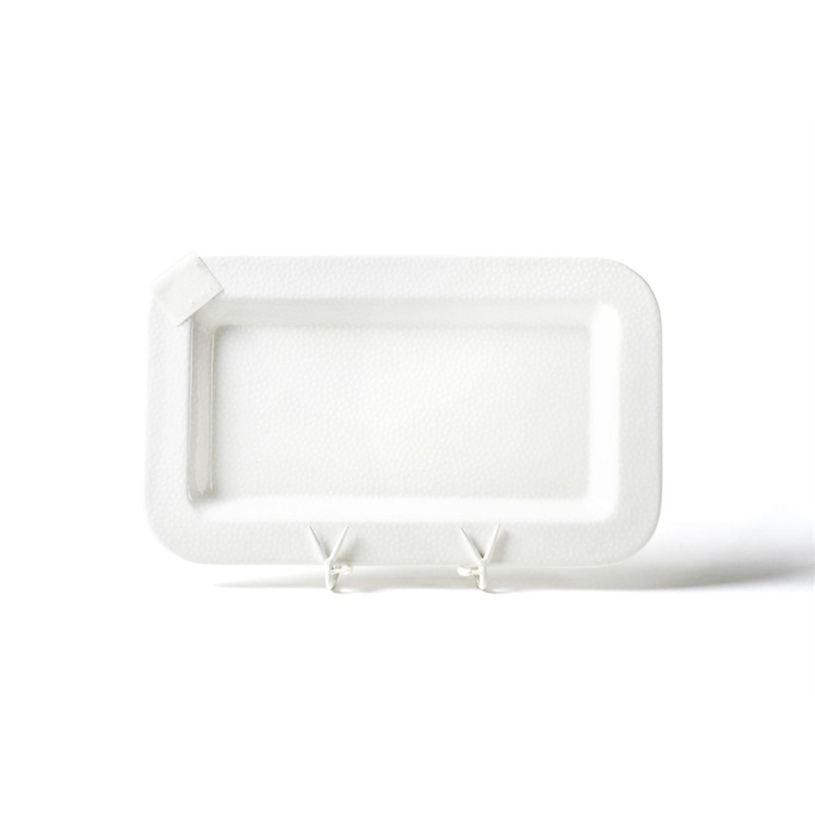Happy Everything 2nd GenerationWhite Small Dot Mini Rectangle  Platter