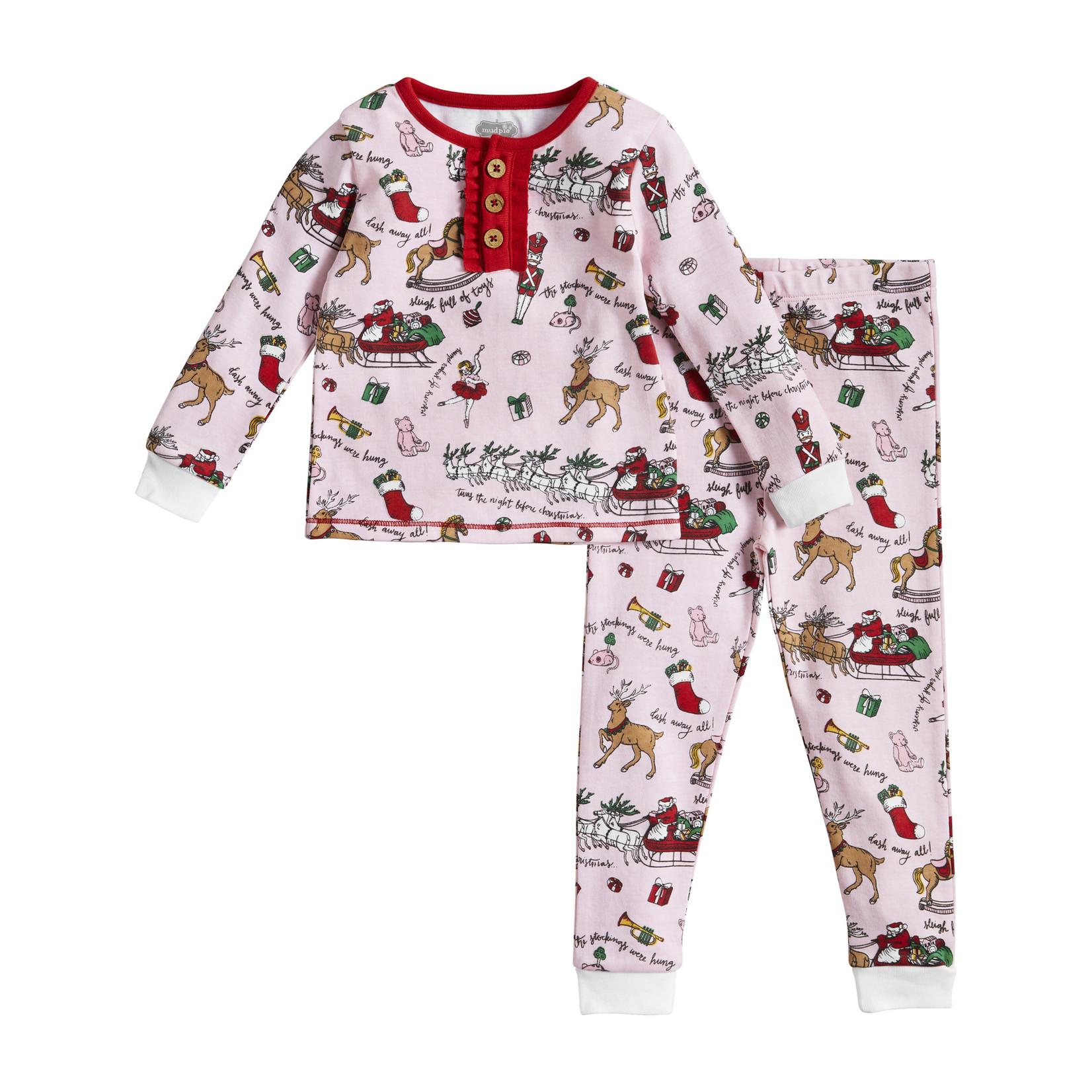 Mudpie Night Before Christmas Girl Pajamas