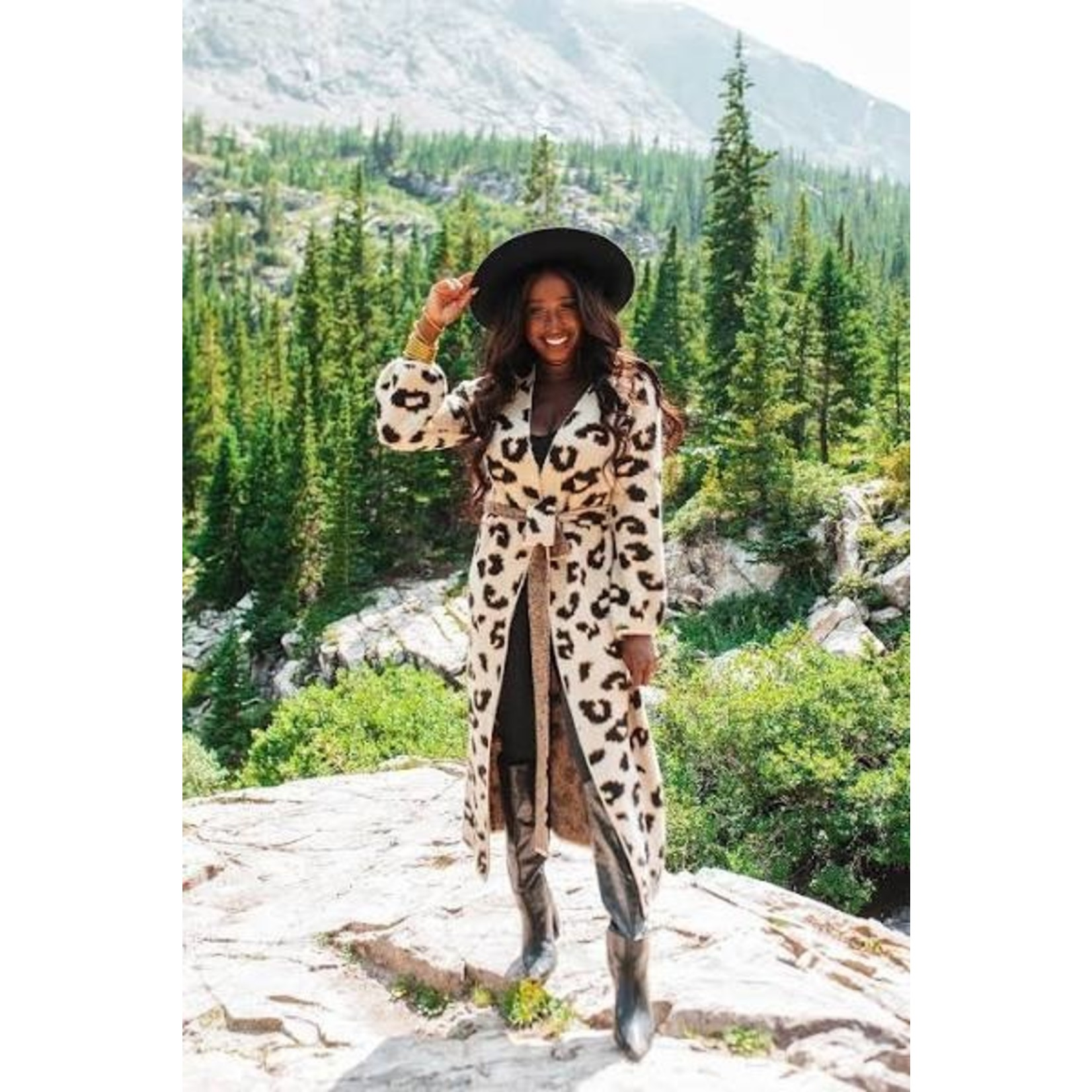 Buddy Love Margaret Leopard Long Cardigan