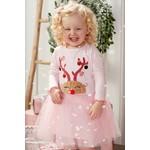 Mudpie Reindeer Mesh Dress