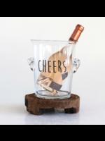 """""""Cheers"""" Glass Ice Bucket"""