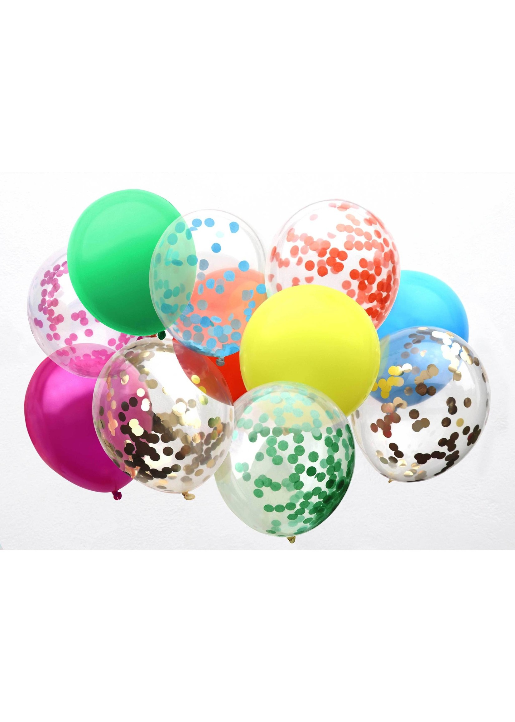 Rainbow Confetti Balloons