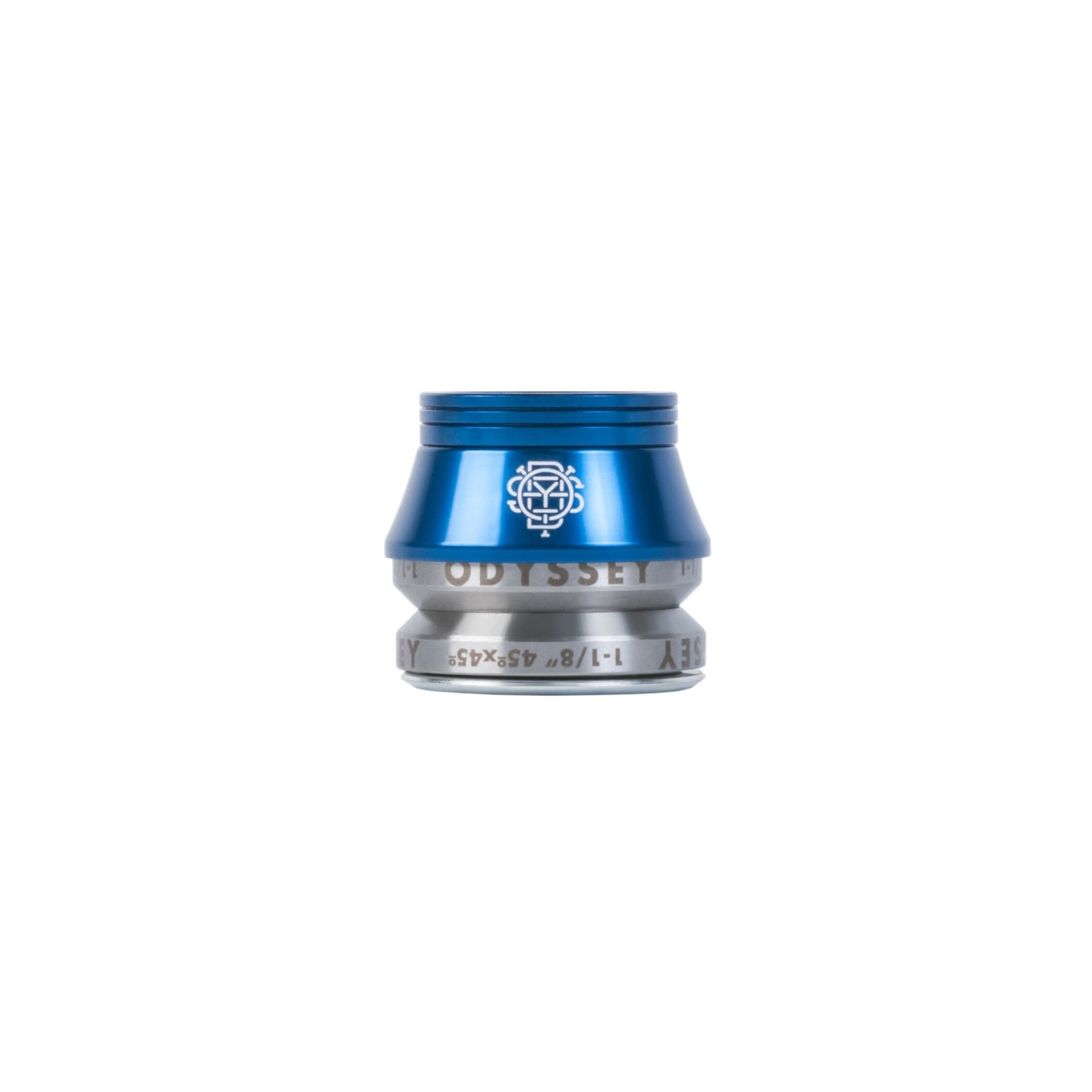 """Odyssey Odyssey Pro Conical Headset - Integrated, 1-1/8"""", 45 x 45, 12mm Stack, Blue"""