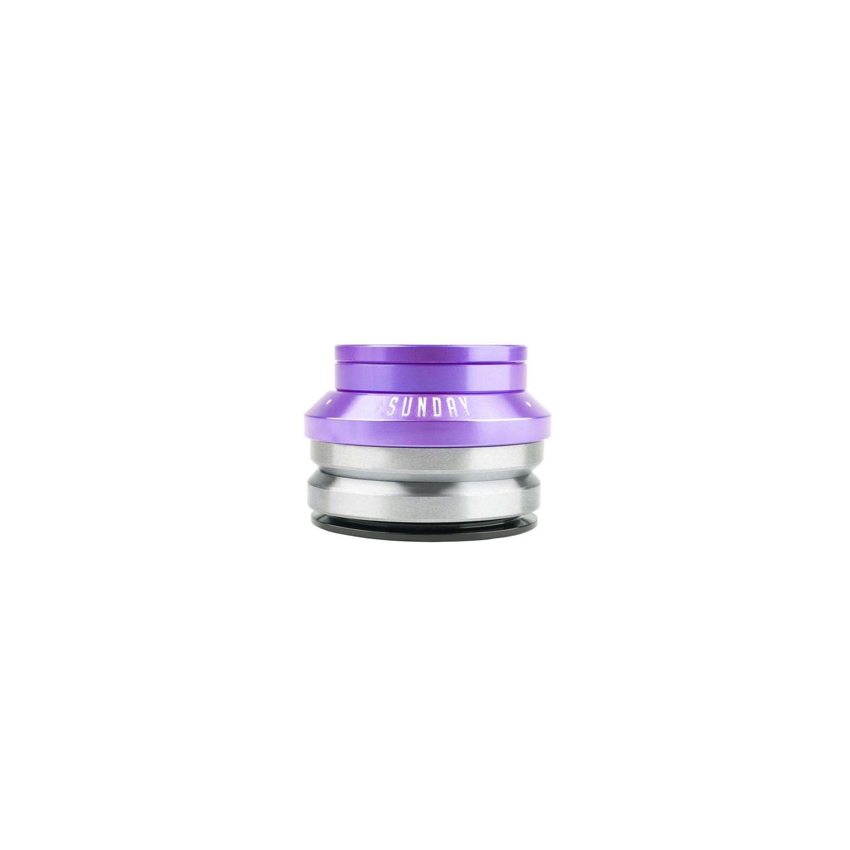 "Sunday Sunday Integrated Headset - 1-1/8"", 5mm, Anodized Purple"