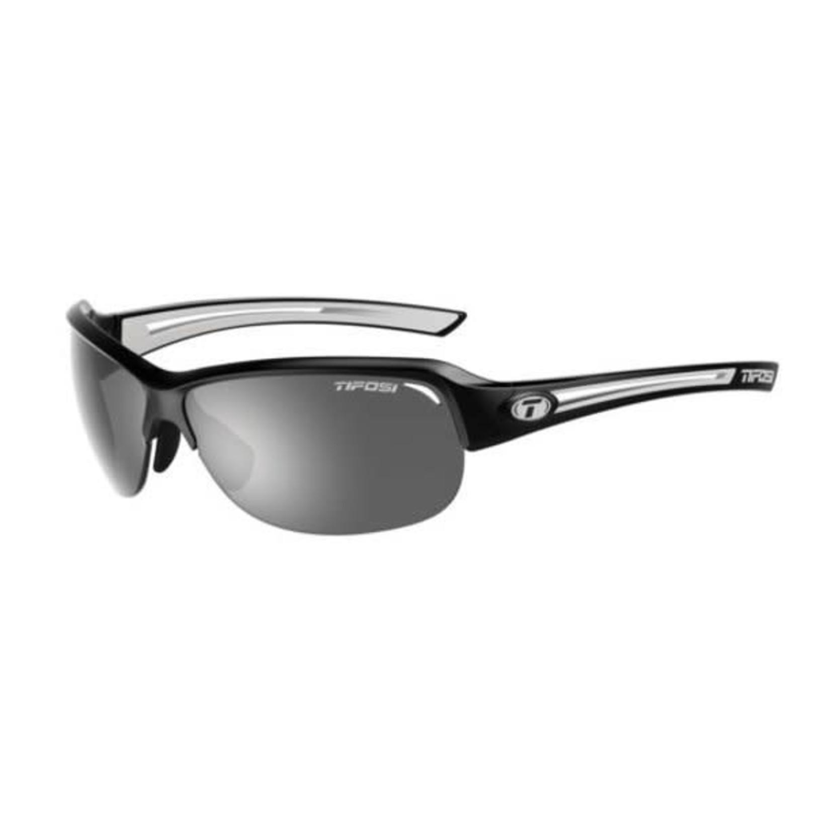 Tifosi Optics Mira Black/White Single Lens Sunglasses Smoke