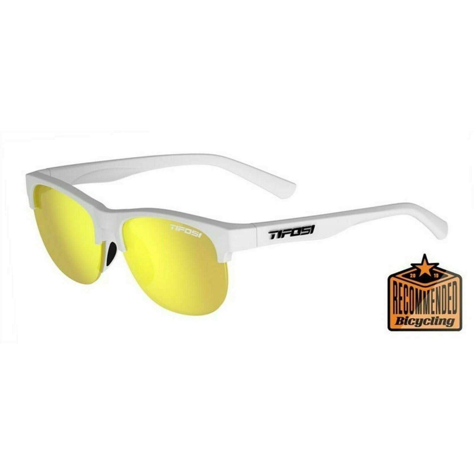 Tifosi Optics Swank SL, Satin Frost Single Lens Sunglasses Smoke Yellow