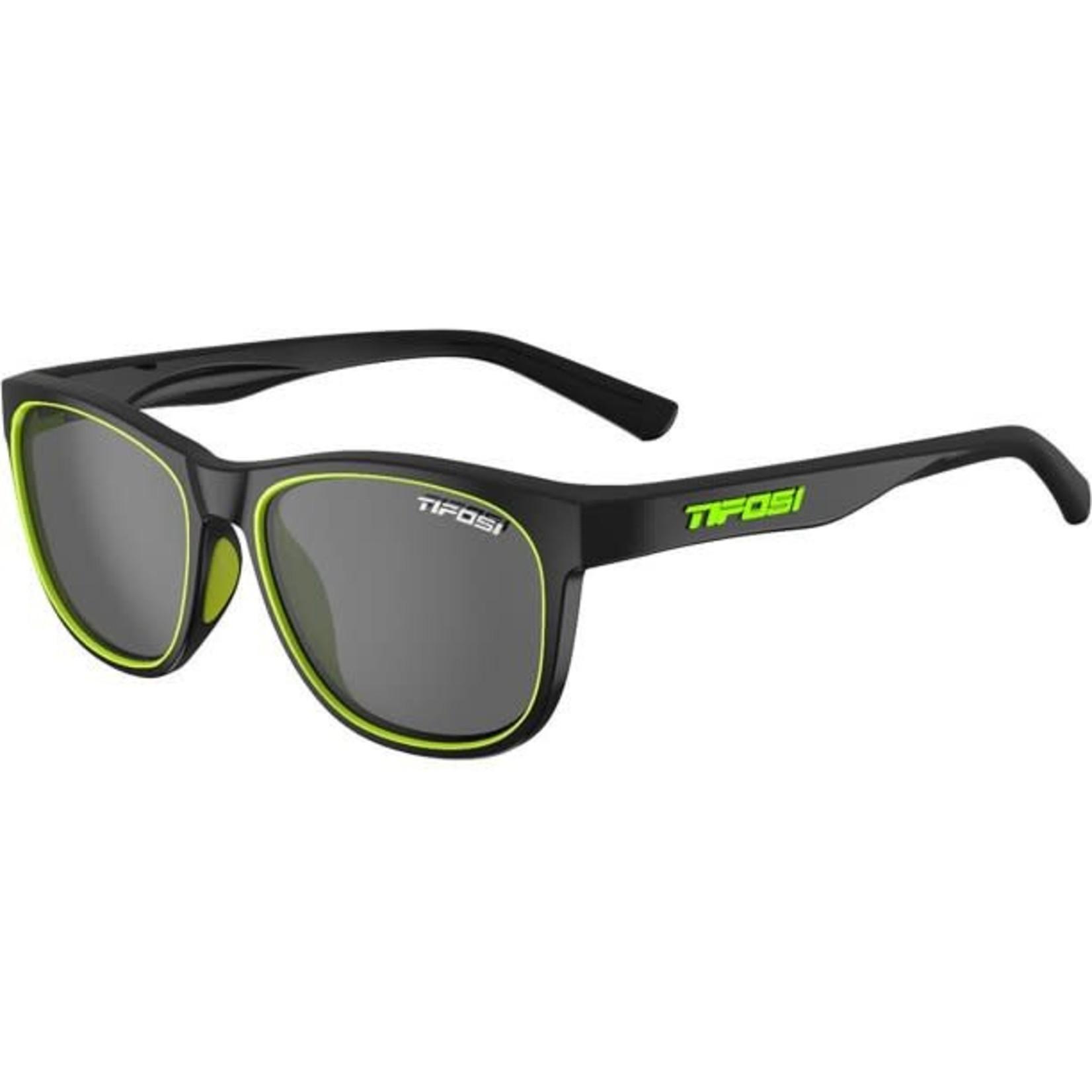 Tifosi Optics Swank, Satin Black/Neon Single Lens Sunglasses