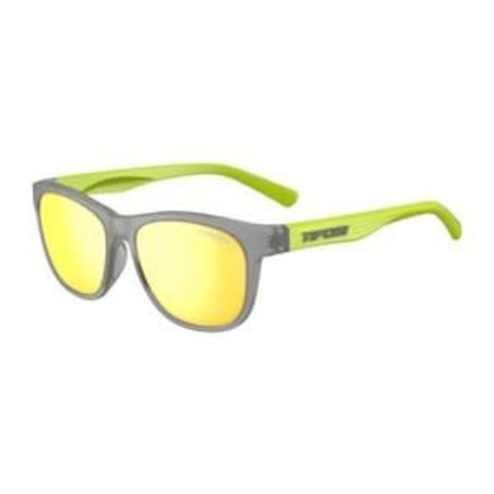 Tifosi Optics Swank, Vapor/Neon Single Lens Sunglasses Smoke Yellow