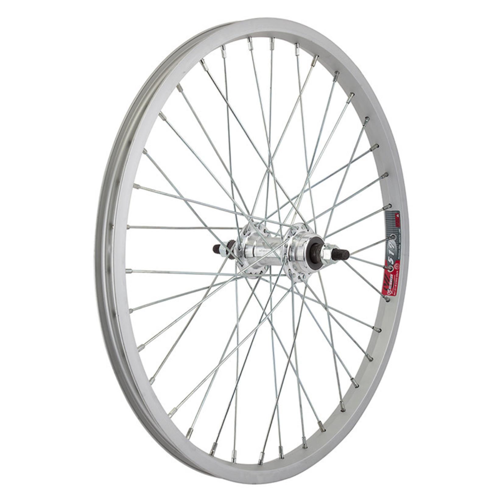 20x1.75 Rear Wheel Alloy FW BO 3/8 110mm 14g Silver Single Wall