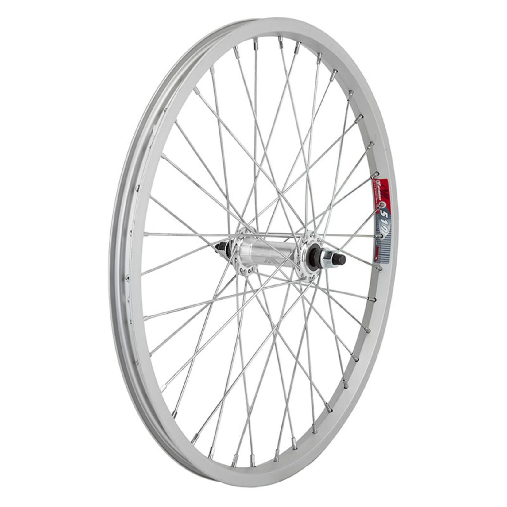 20x1.75 Front Wheel Alloy BO 3/8 14g Silver Single Wall