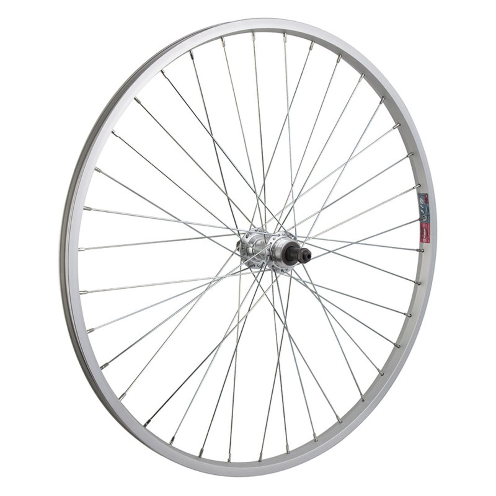 "26"" Rear Wheel Alloy Mountain Single Wall Silver FW QR"