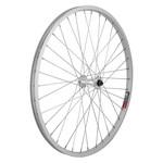 "24"" Front Wheel Alloy Mountain QR Silver Single Wall"