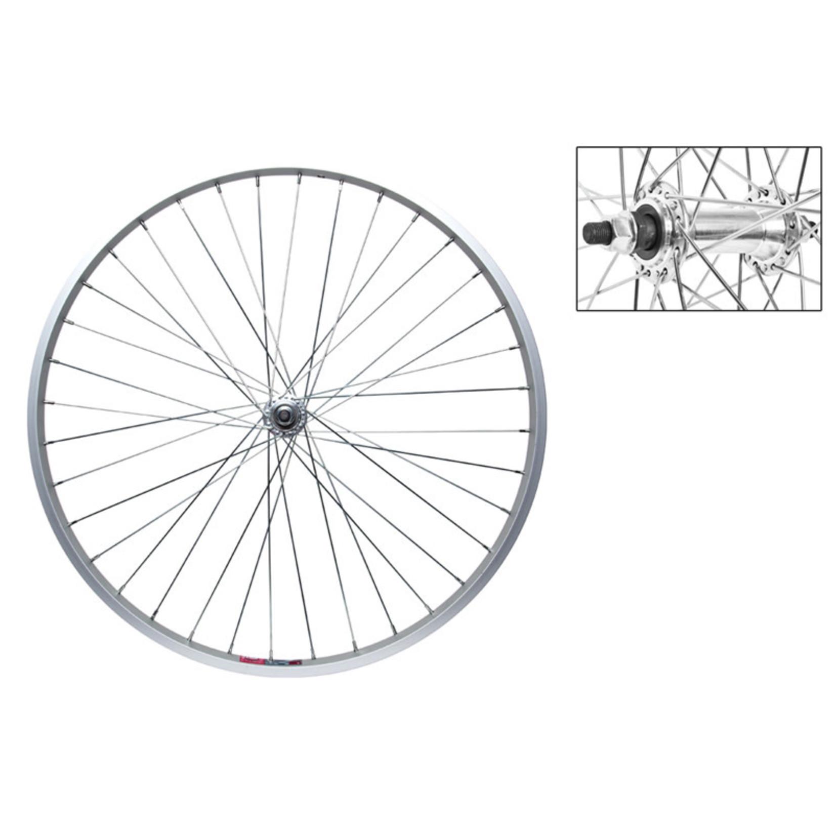 "26"" Front Wheel Alloy Mountain Single Wall BO 3/8 Silver"