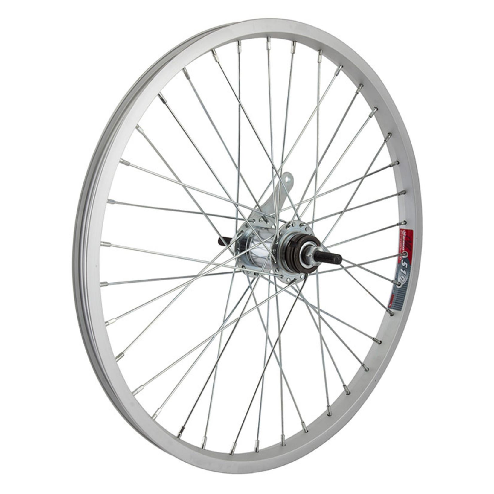20'' Rear Wheel Coaster Brake Single Wall Silver BO 3/8