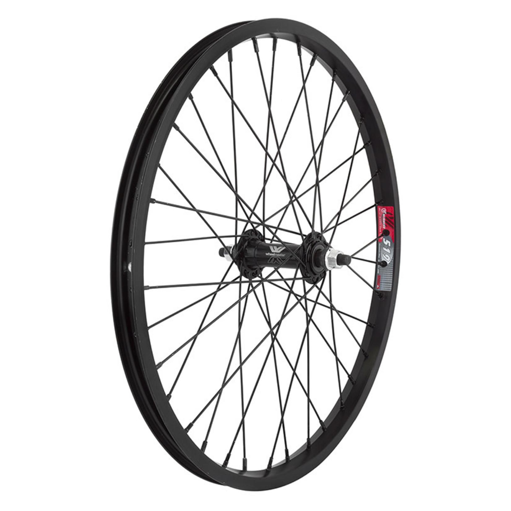 20'' Front Wheel Alloy BO 3/8 Black Single Wall