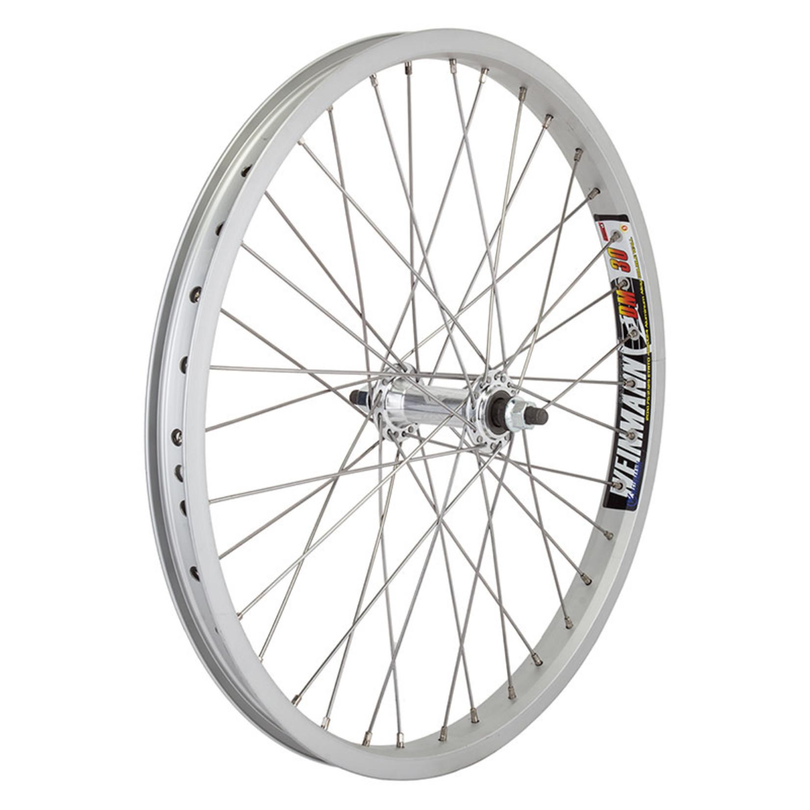 "20"" Front Wheel BO 3/8 Silver Double Wall"