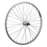 """24"""" Rear Wheel Alloy Mountain Single Wall FW QR Silver 135mm"""