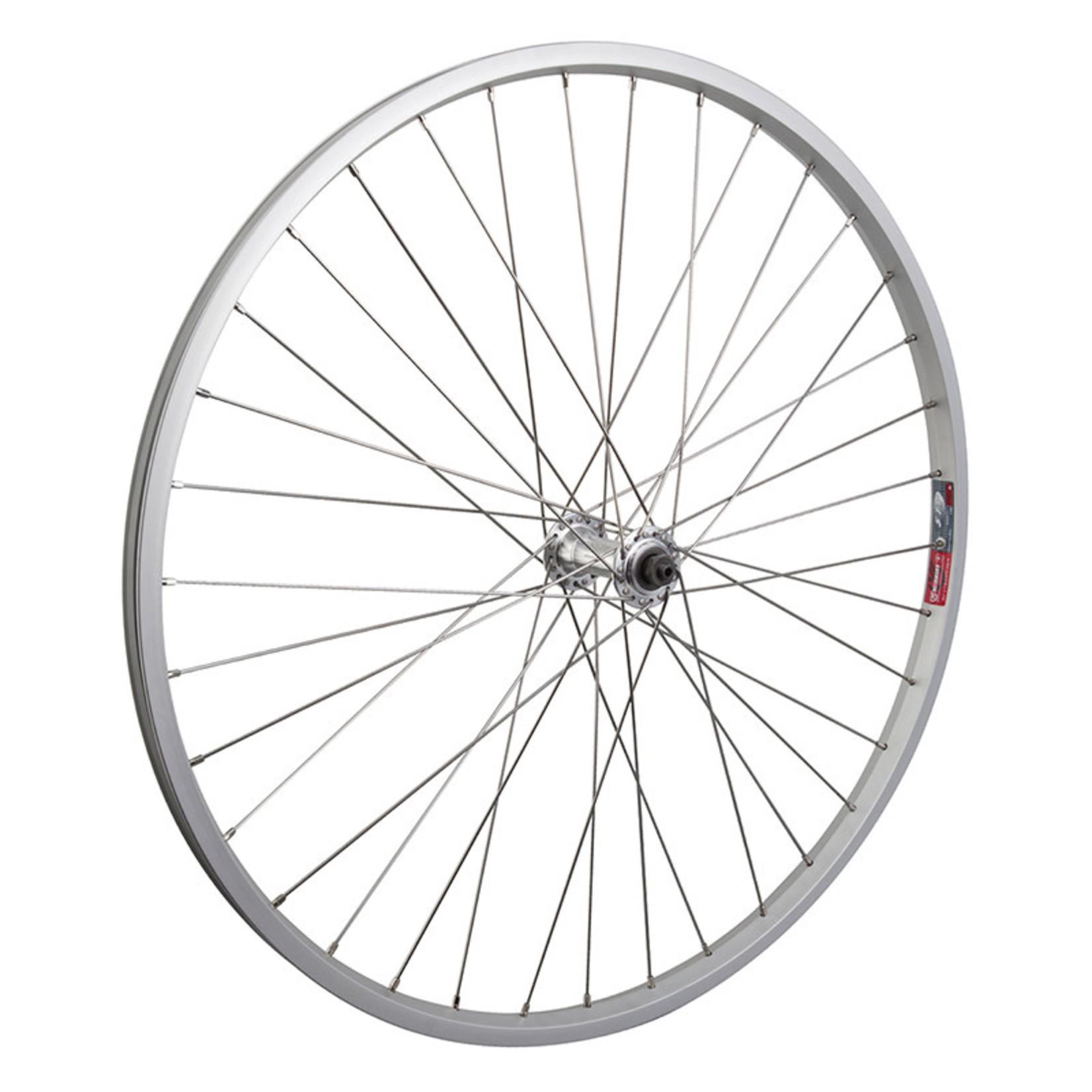 "26"" Front Wheel Alloy Mountain Single Wall QR 14g SS Silver"
