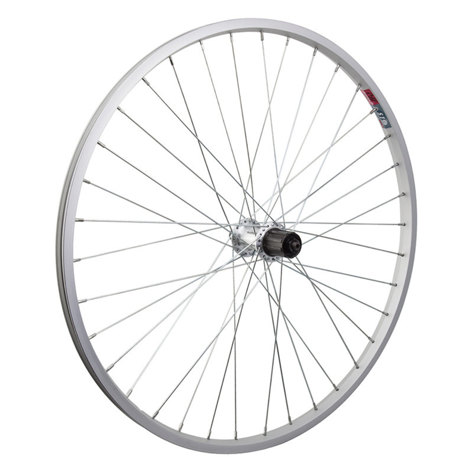 "26"" Rear Wheel Alloy Mountain Single Wall 8-10s Cass. 135mm 14g Silver"