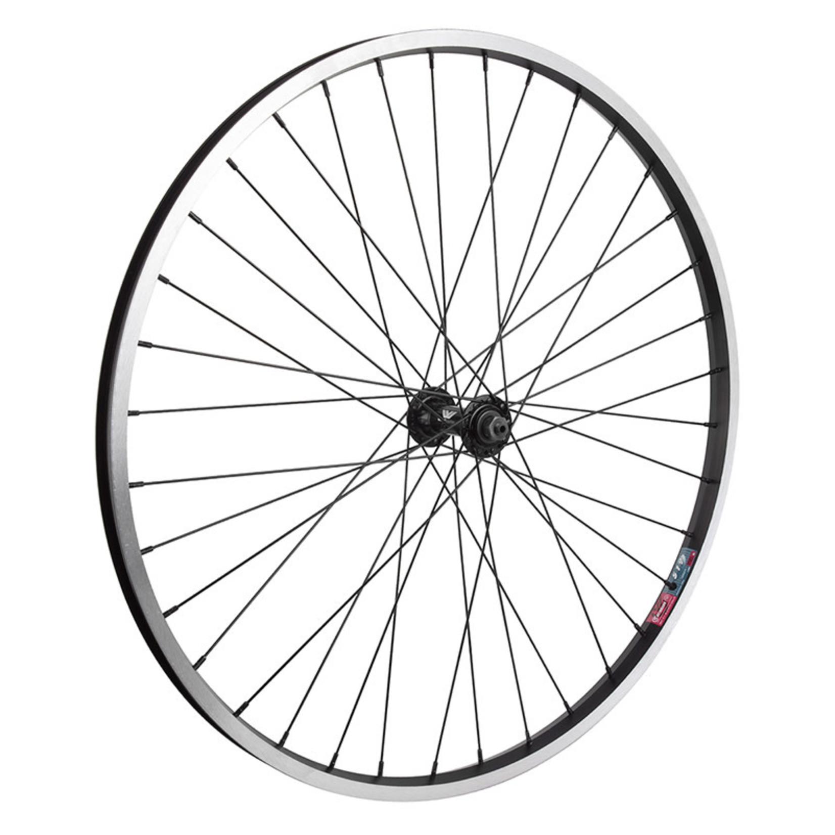 "26"" Front Wheel Alloy Mountain Single Wall QR 14g Black w/MSW"