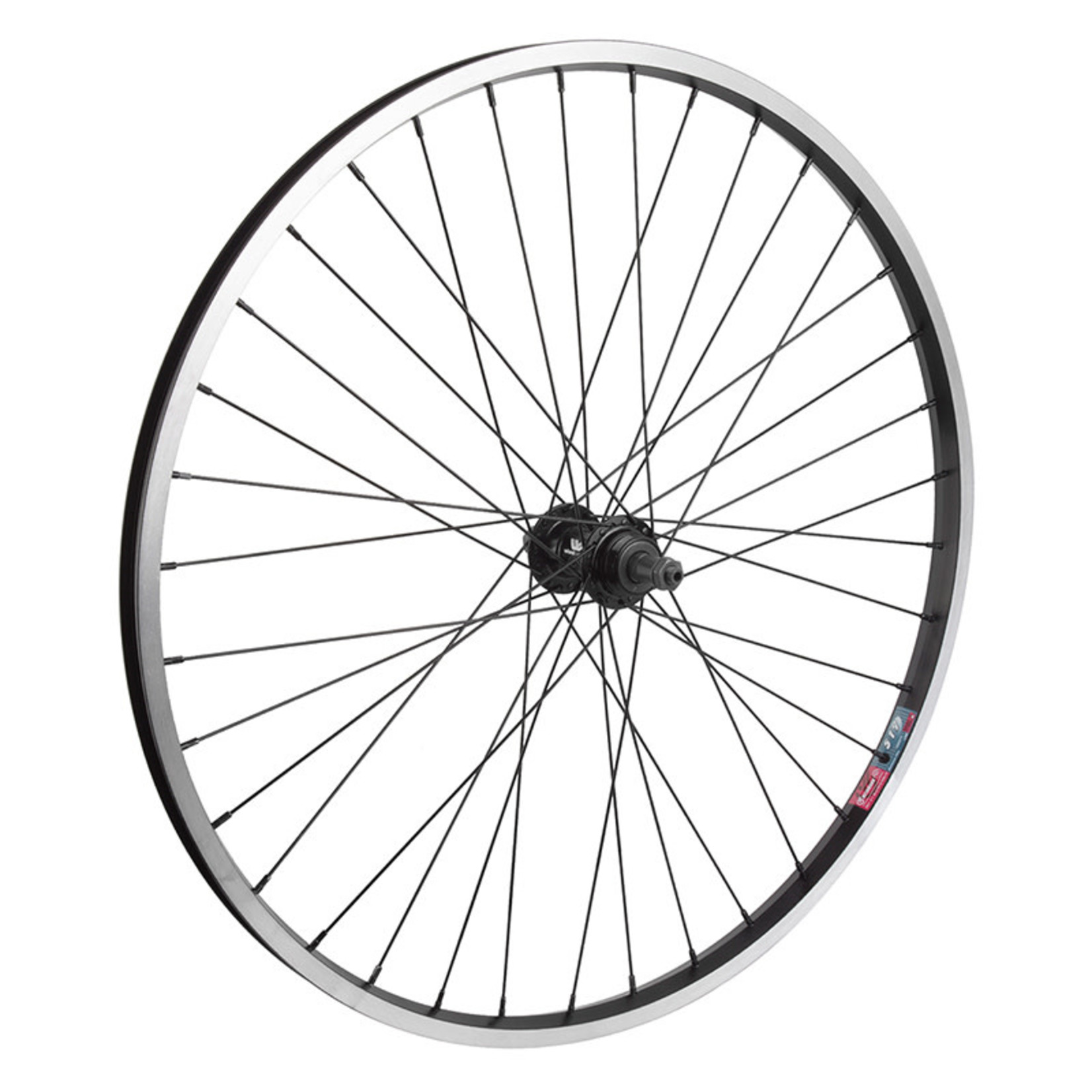 """26"""" Rear Wheel Alloy Mountain Single Wall FW QR 135mm 14g Black w/MSW"""