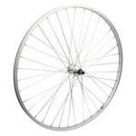 700C Rear Wheel Alloy Road Single Wall FW QR 126mm 14g Silver