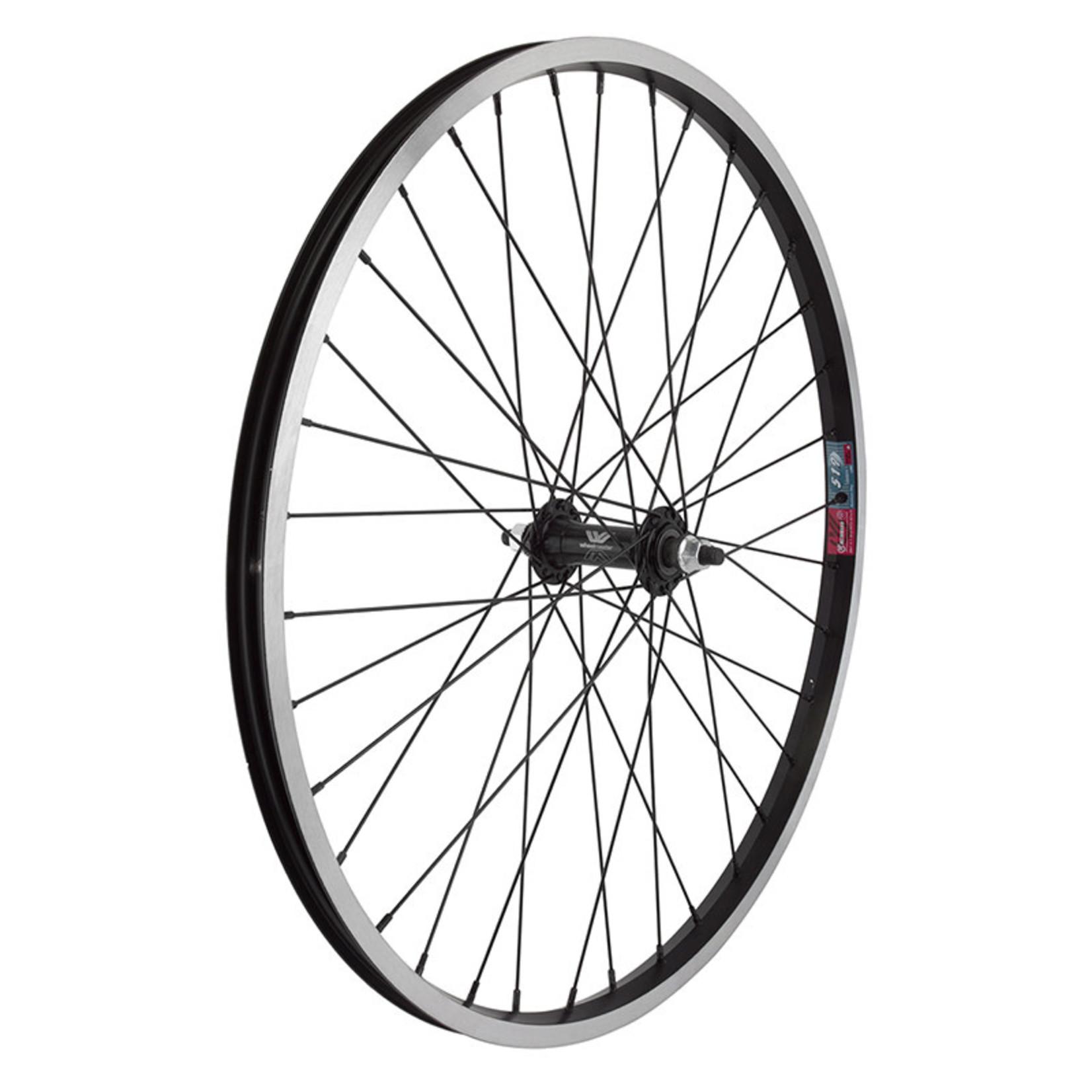 "24"" Front Wheel Alloy Mountain BO 14g Black w/MSW"