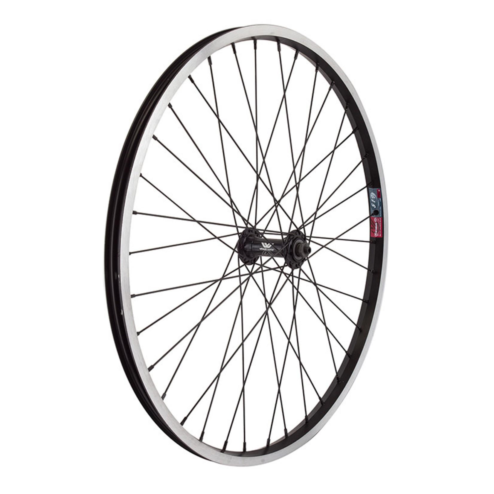 "24"" Front Wheel Alloy Mountain QR 14g Black w/MSW"
