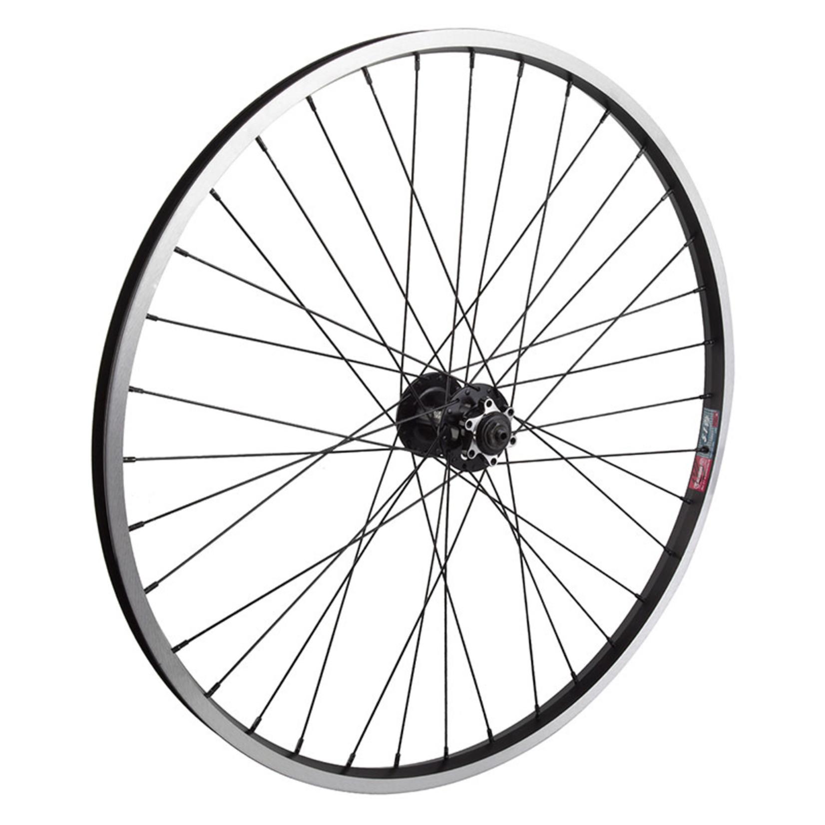 "26"" Front Wheel Alloy Mountain Disc Single Wall QR 14g Black w/MSW"