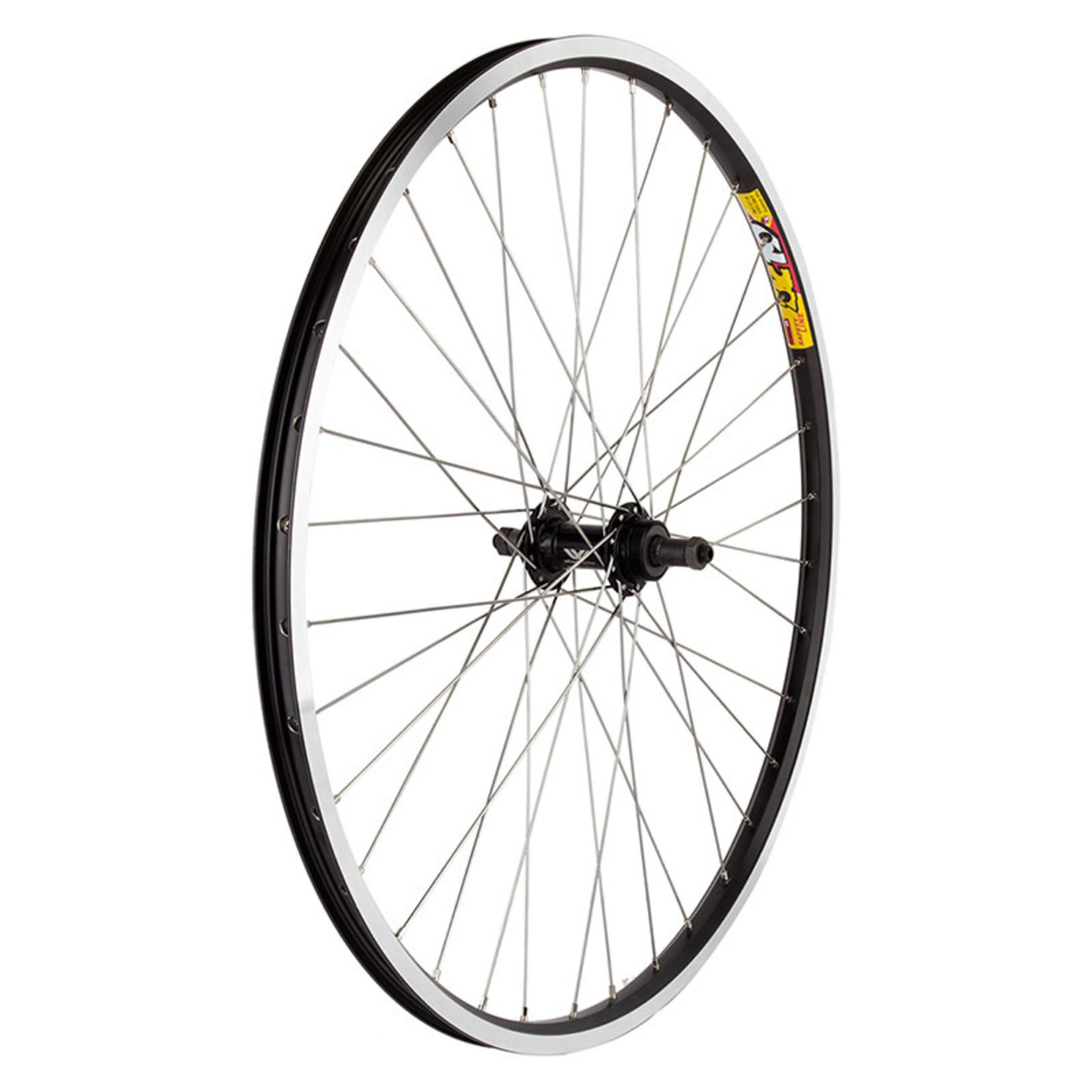 """26"""" Rear Wheel Alloy Mountain Double Wall FW QR 135mm 14g Black w/MSW"""