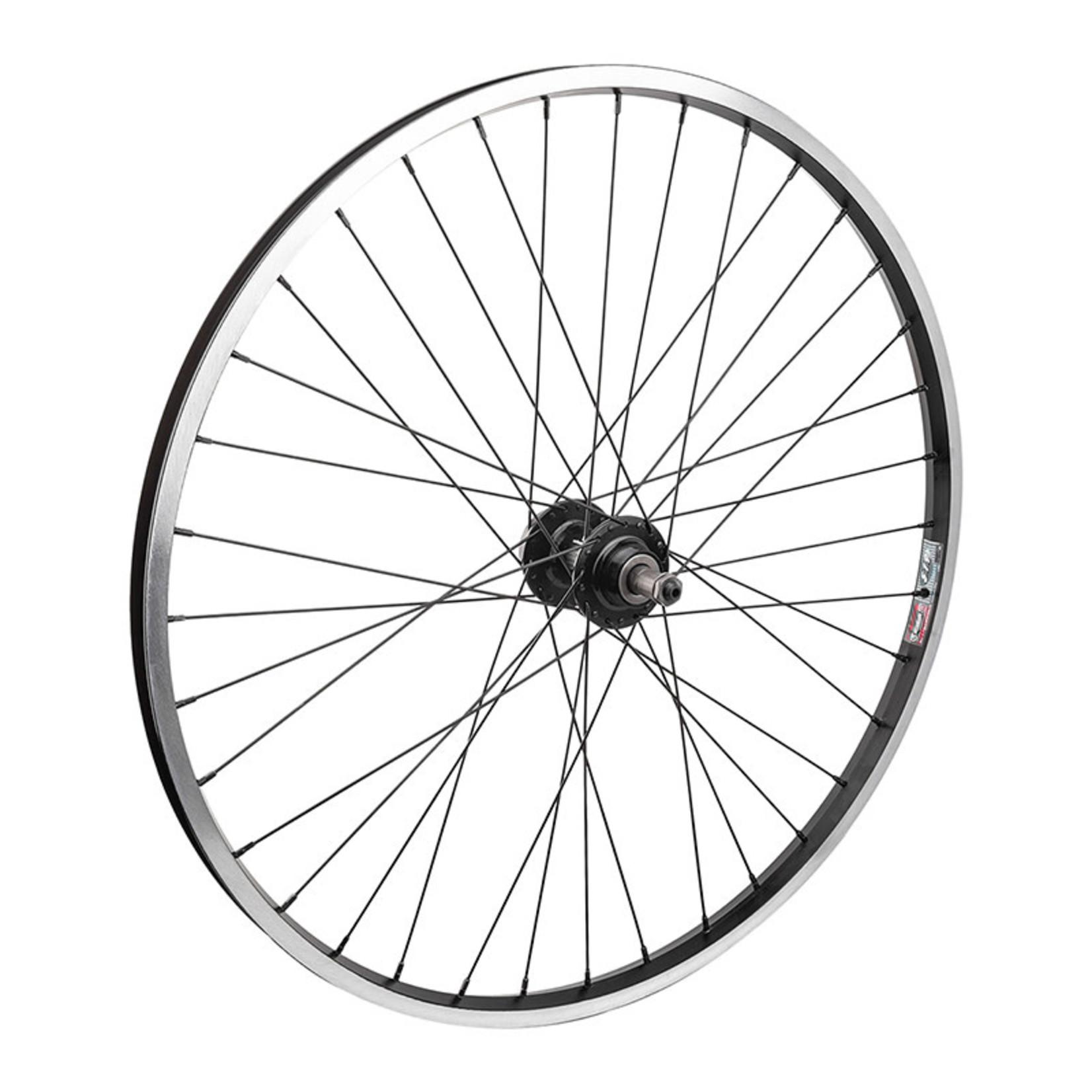 """26"""" Rear Wheel Alloy Mountain Disc Single Wall FW QR 135mm 14g Black w/MSW"""