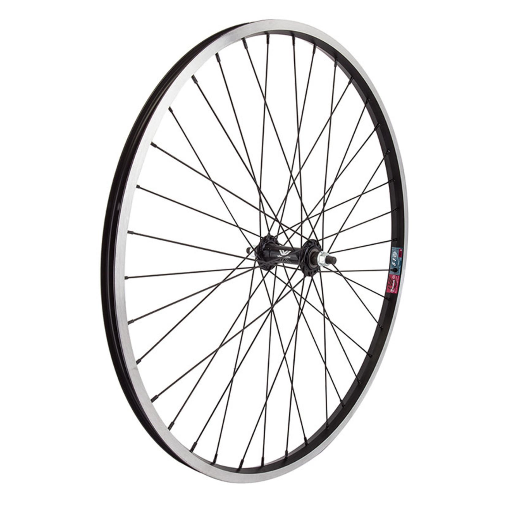 """26"""" Front Wheel Alloy Mountain Single Wall BO 14g Black w/MSW"""