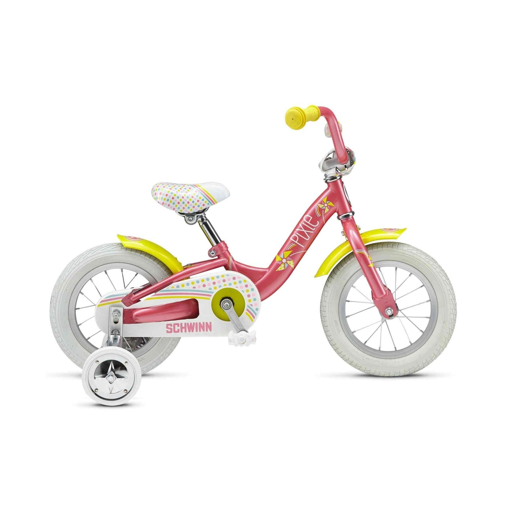 "Schwinn Pixie 12"" Pink / Yellow"