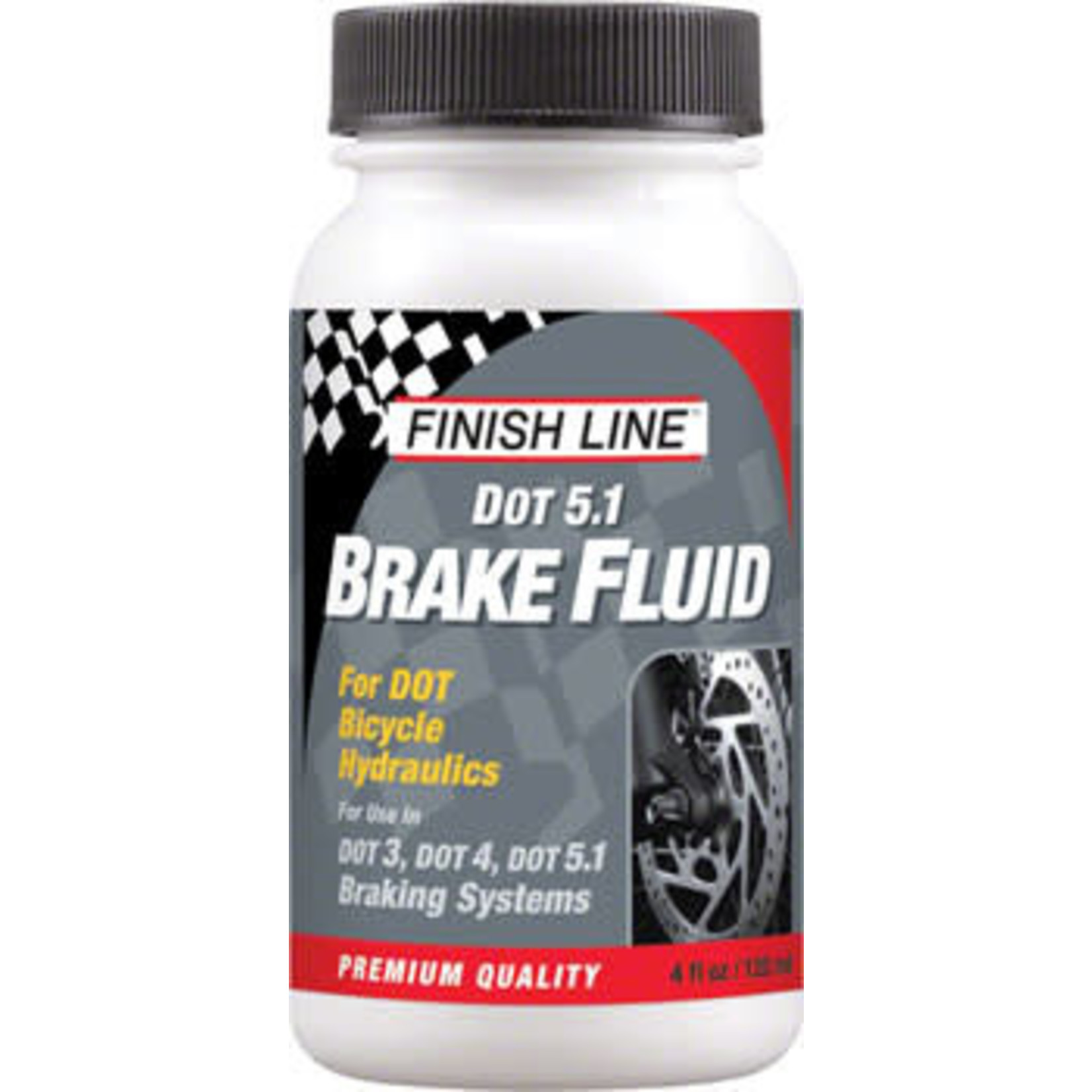 Finish Line DOT 5.1 Brake Fluid, 4oz