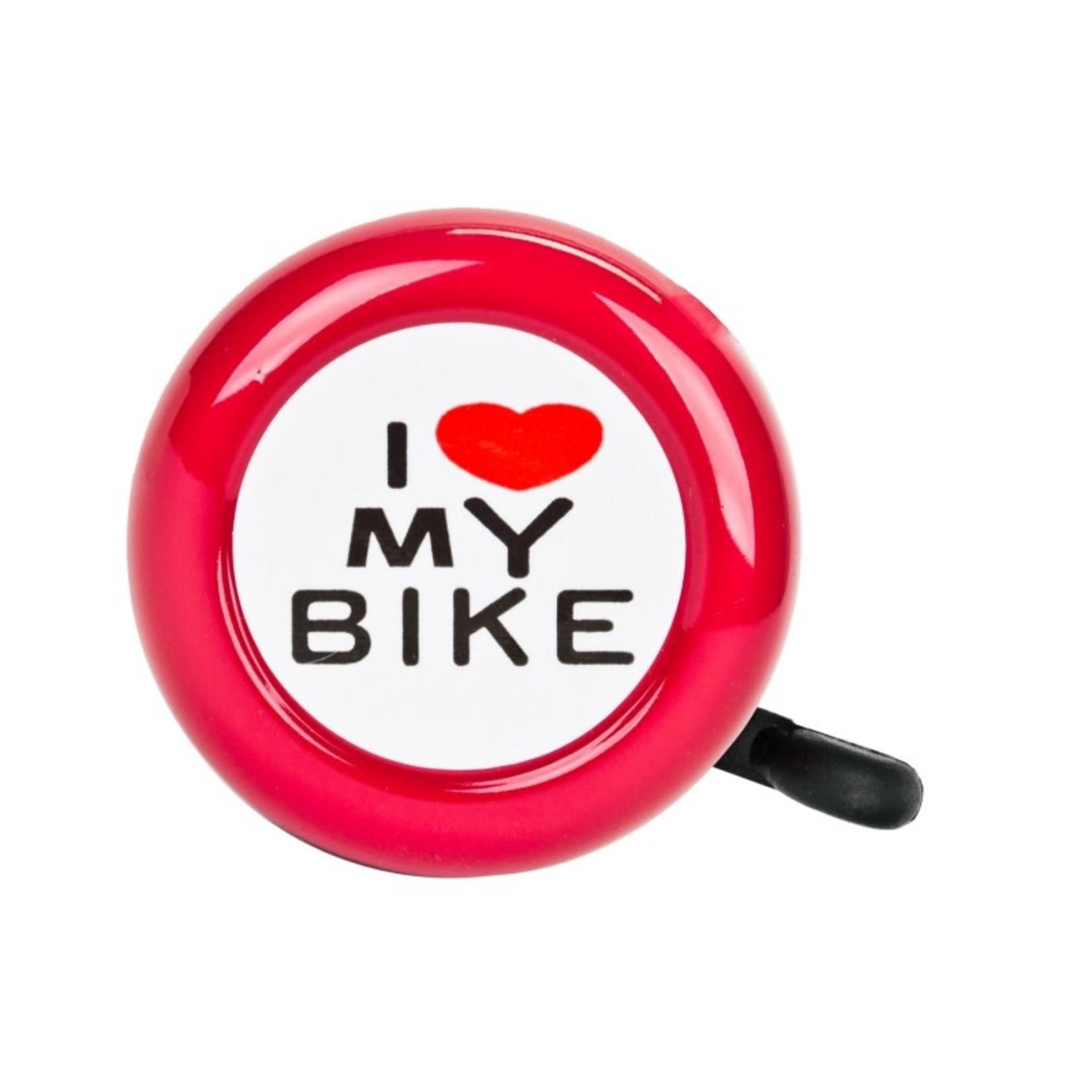 I Love My Bike Bell Red