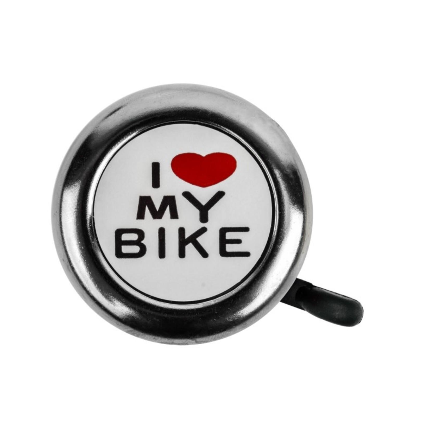 Love My Bike Bell Chrome