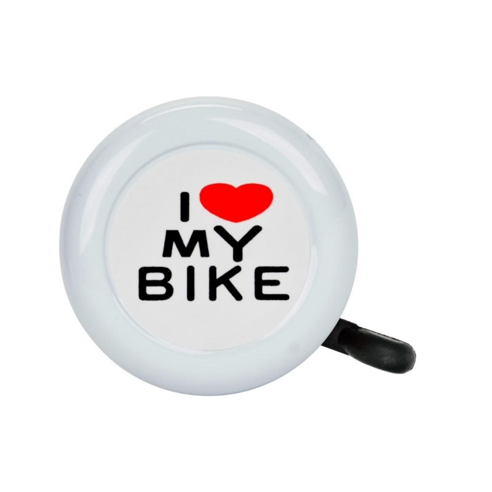 I Love My Bike Bell White