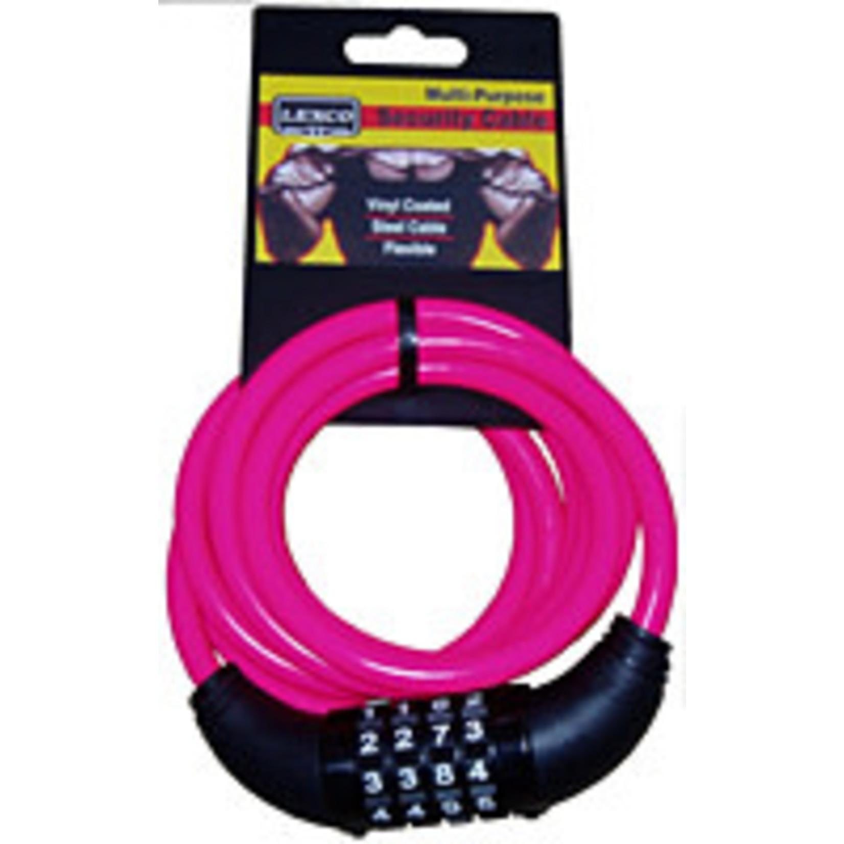 Cable Combo Lock 6'5 Neon Pink