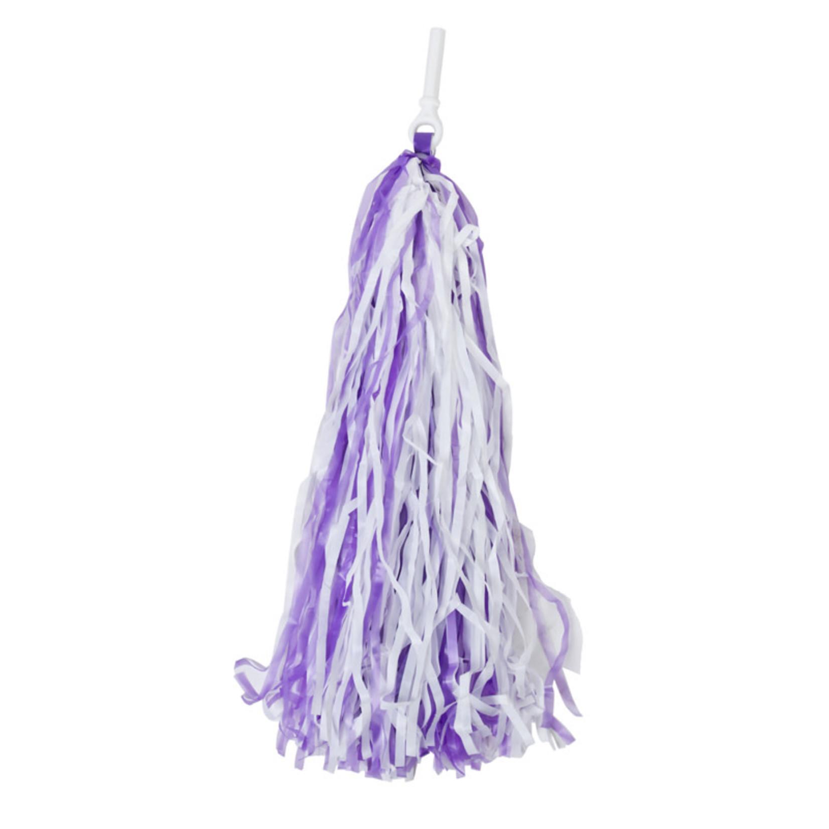 Pom Pom Streamers Purple / White
