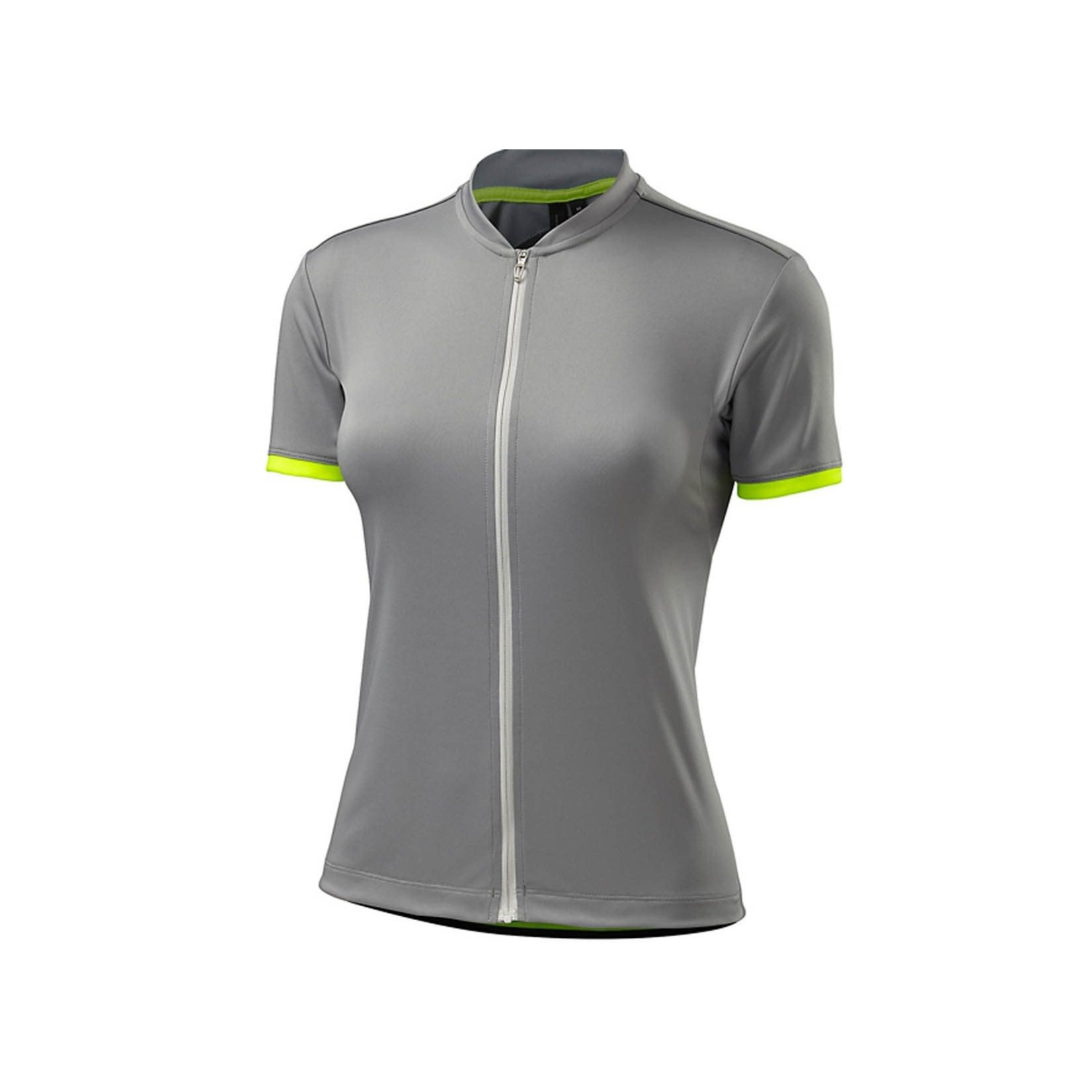 Specialized Womens Roubaix Sport SS Light Gray/Neon Yellow Large