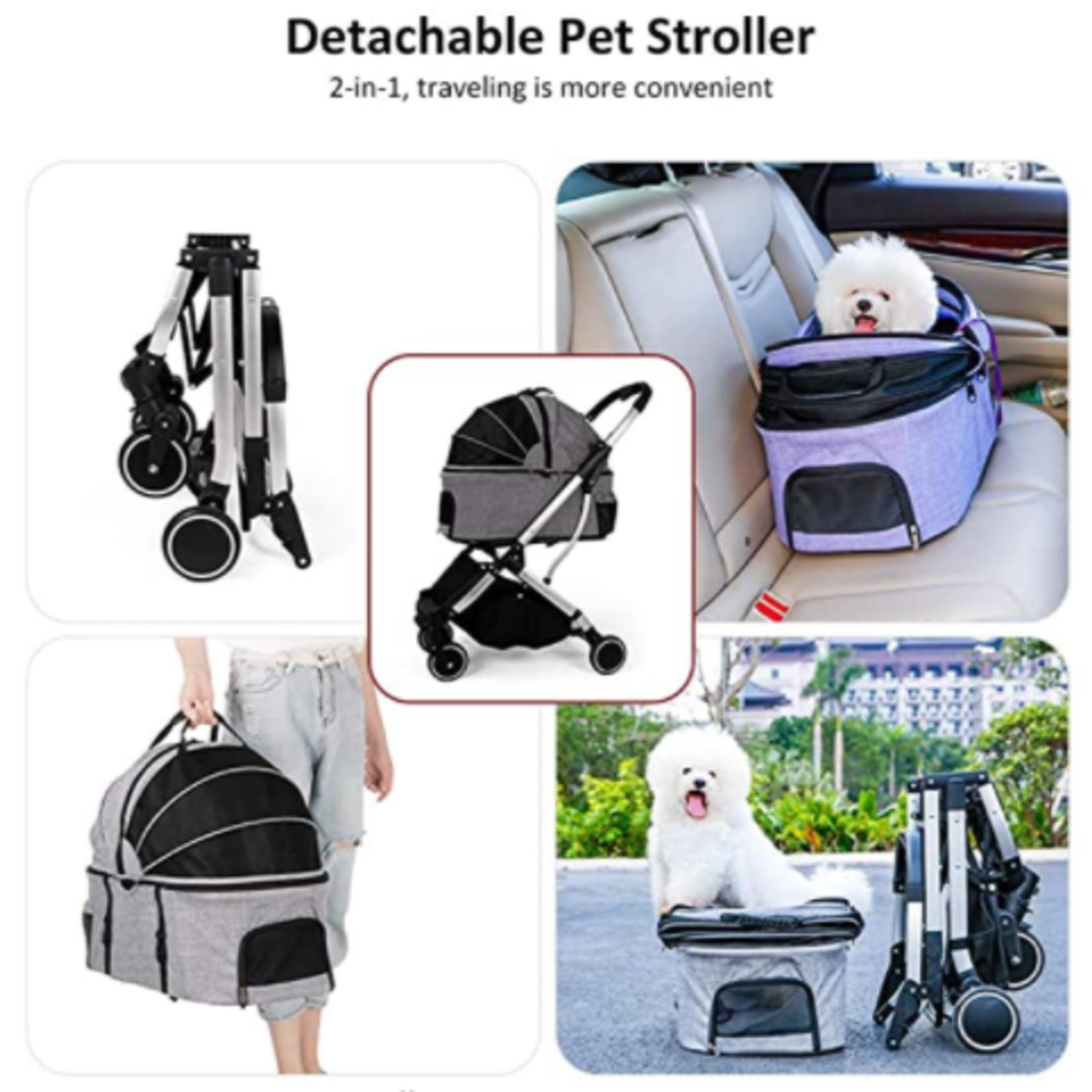 Detachable Pet Stroller: 2-in-1