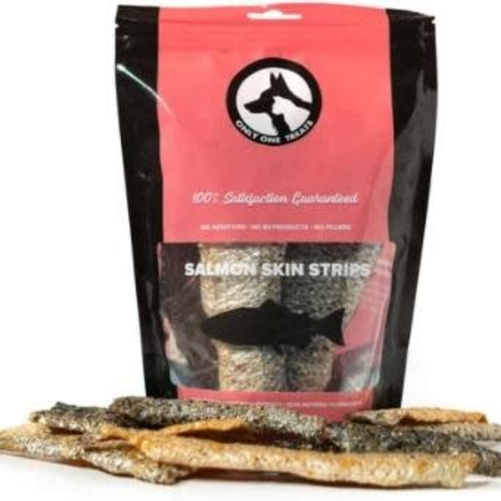 Only One Treats Only One Treats Wild Pacific Salmon Skin Strips (85g)