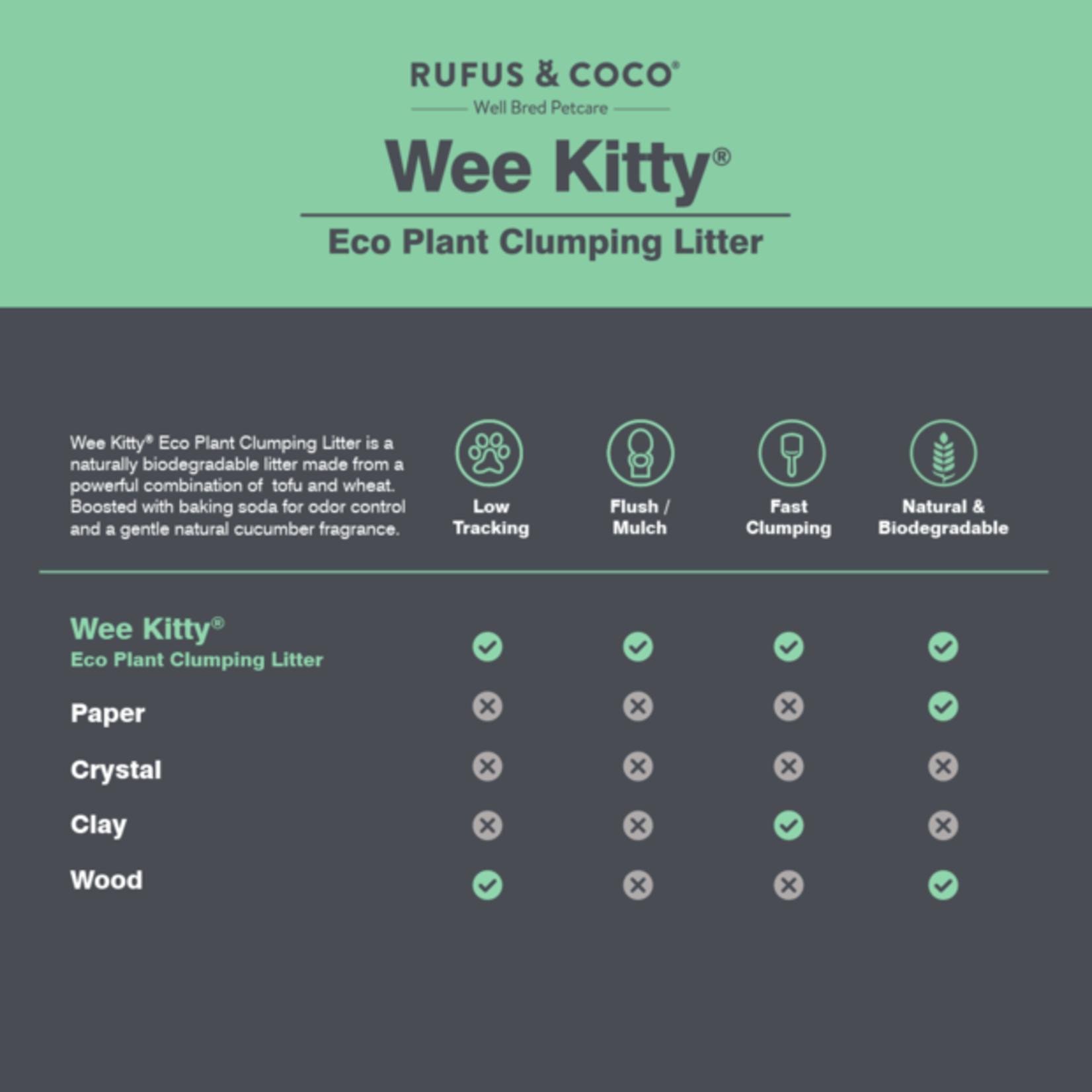 Rufus & Coco Litière agglomérante pour chat en fibres de soja - Rufus & Coco 9kg