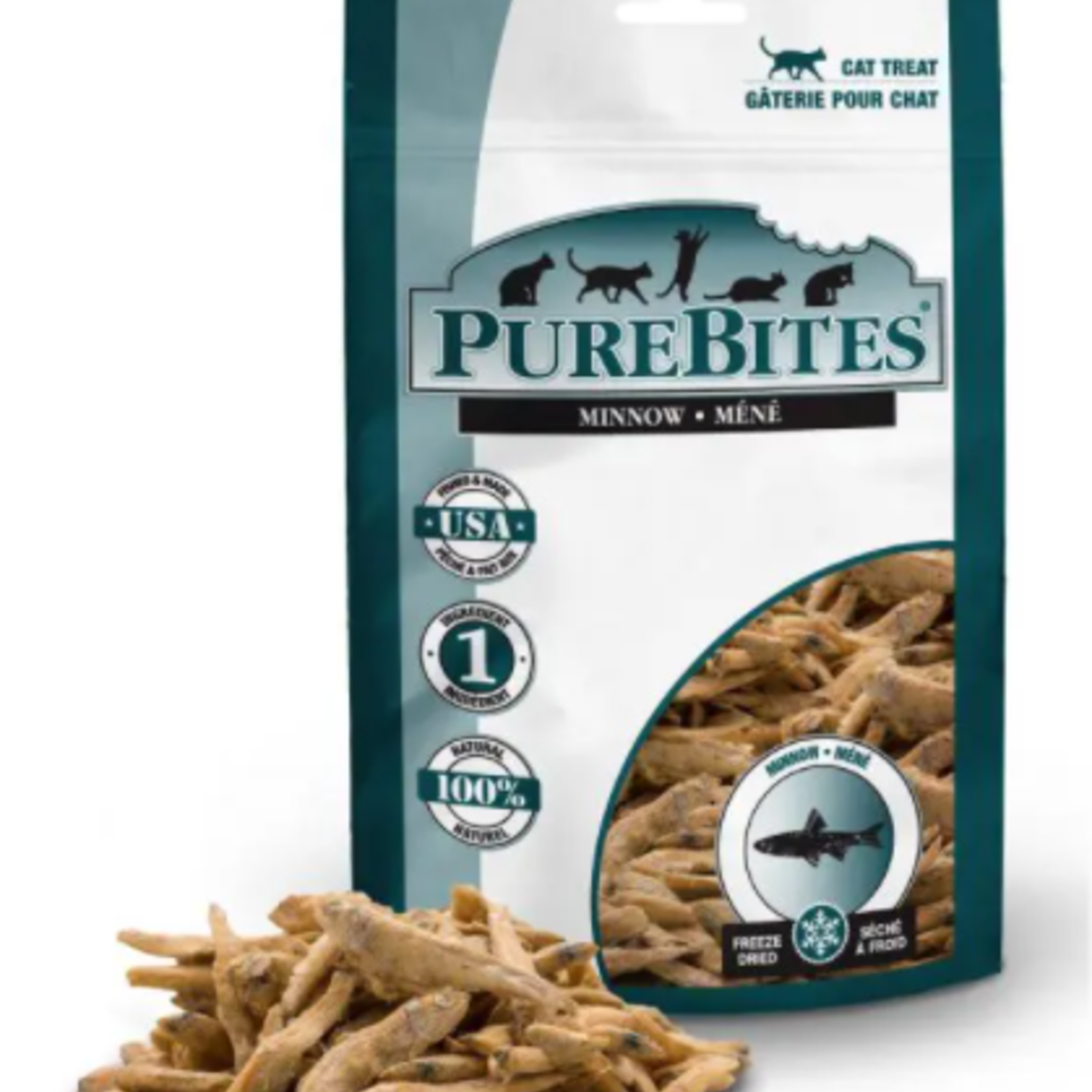 PureBites Minnow freezed dried cat treats (66g)