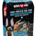 Boss Nation Poisson et aux céréales anciennes-24 lbs-Croquettes à haute teneur en protéines
