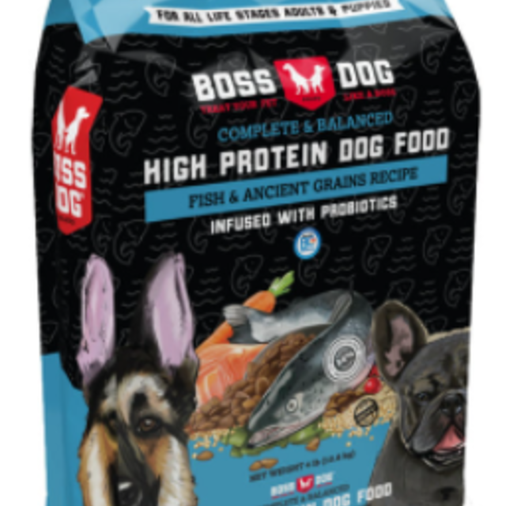 Boss Nation Fish & Ancient Grains-High Protein Dry Dog Food