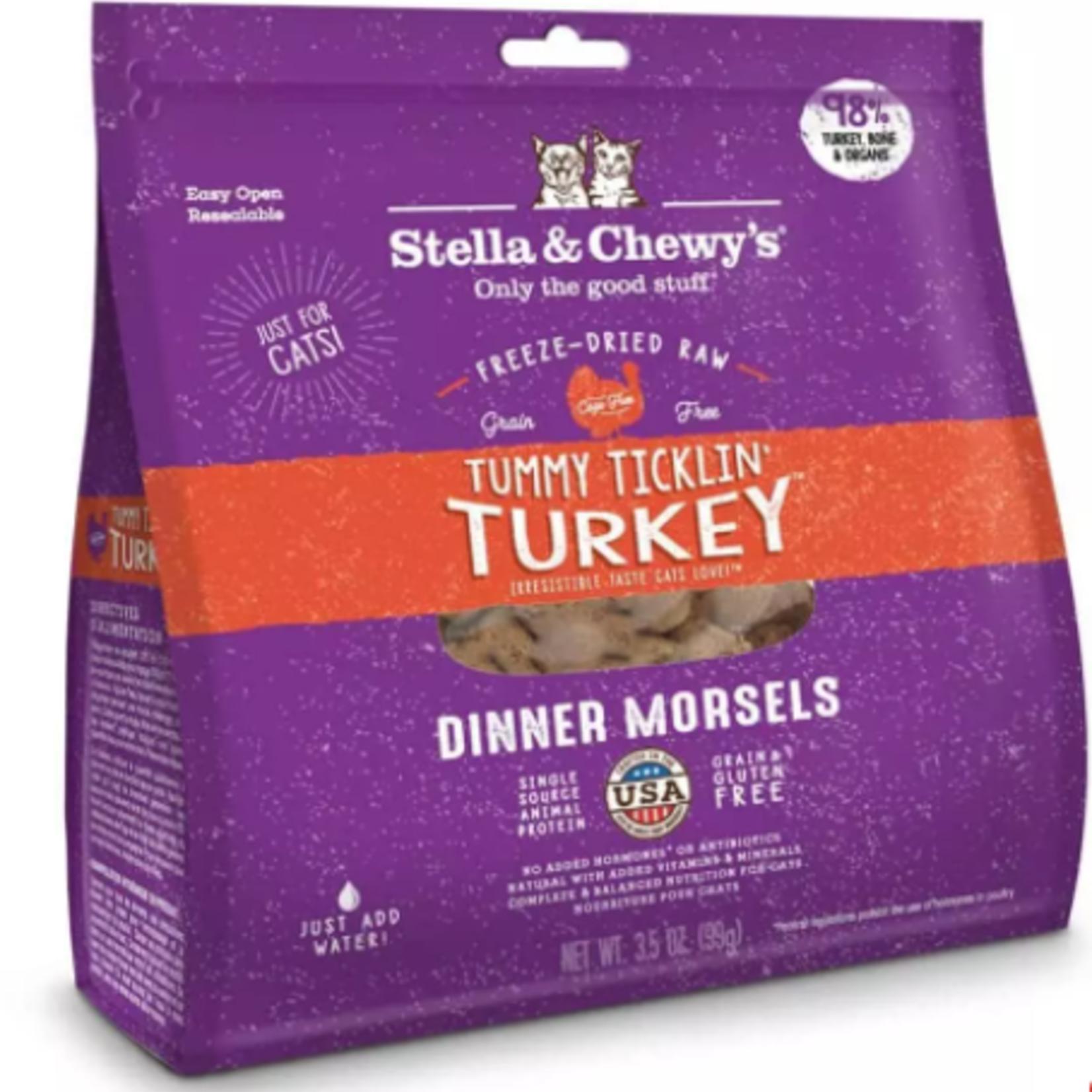 Stella & Chewy s Freeze Dry Raw-Turkey-Cat-3.5oz-Dinner Morsels